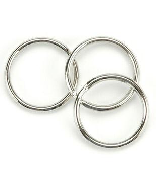 """Split Key Ring 1-1/4"""" 10/Pkg-Nickel"""