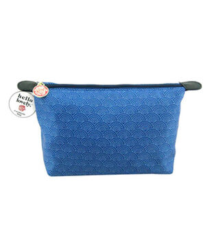 Hello Lovely™ Cosmetic Bag-Blue