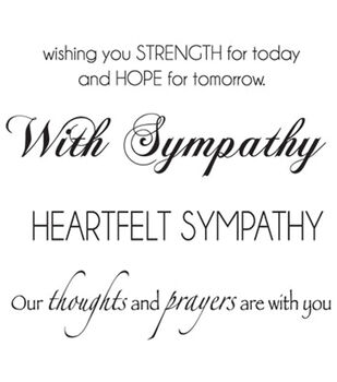 """Mini Clear Stamps 3""""X5""""-Sympathy Words"""