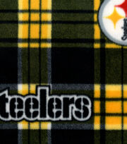Pittsburgh Steelers NFL Plaid Fleece Fabric by Fabric Traditions, , hi-res