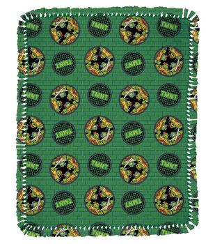 "TMNT Badge  48"" No Sew Throw"