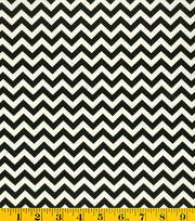 Premium Cotton Fabric-Mia Chevron Black/White, , hi-res