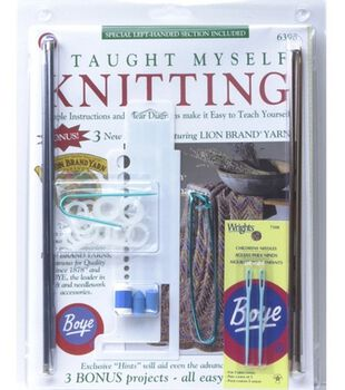 Beginners Knitting Kit-Book, Needles & Much More!