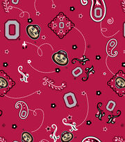 Ohio State University NCAA Bandanna Print Cotton Fabric, , hi-res