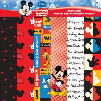 "Sandylion Disney Mickey&Friends Paper Pack 12""x12"""