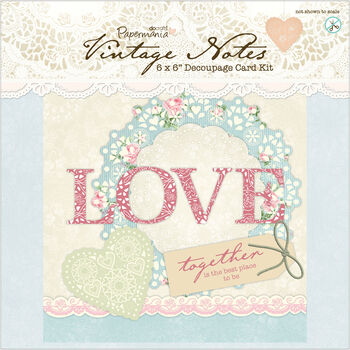 Docrafts Papermania Vintage Notes Decoupage Card Kit