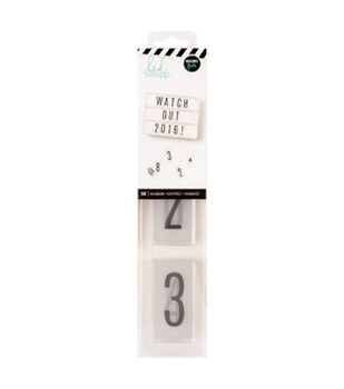 Heidi Swapp Lightbox Inserts 50/Pkg-Numbers Black