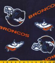 Denver Broncos NFL Fleece Fabricby Fabric Traditions, , hi-res