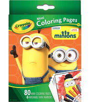 Crayola Mini Coloring Pages -Minions, , hi-res