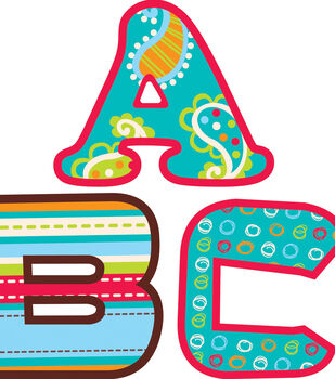 Dots-On-Turquoise Collection: 2 Inch Letter Stickers