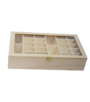 Fab Lab™ Unfinished Wood Storage Box with Lid