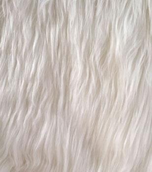 Luxury Faux Fur-White Husky