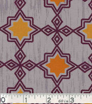Keepsake Calico Fabric - Orange Tile On Gray, , hi-res