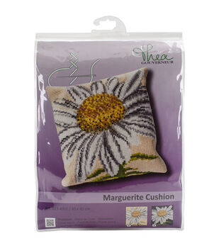 """Marguerite Cushion Tapestry Kit-15.75""""X15.75"""" 18 Count"""