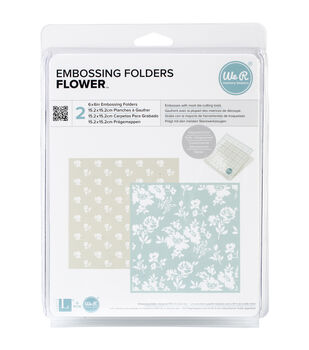 "Goosebumpz 6""X6"" Embossing Folder 2/Pkg-Flower"