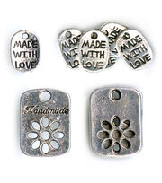 Blue Moon Beads Charm Made W Love Assorted Silver, , hi-res
