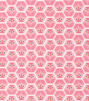 Cloud 9 Premium Cotton Fabric-Dolittles Owl Pink, , hi-res