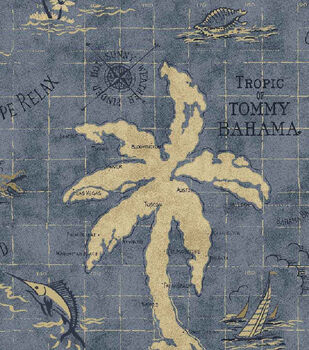 Home Decor Outdoor Fabric-Tommy Bahama Island Song Ocean