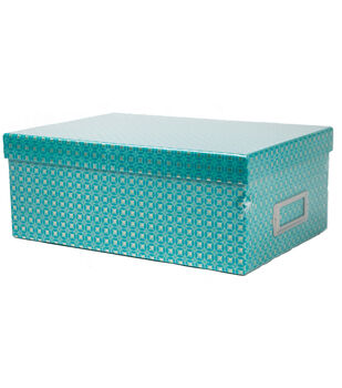 DCWV Teal Dot Storage Box