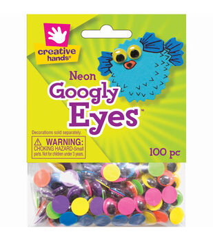 Creative Hands Neon Googly Eyes 10mm