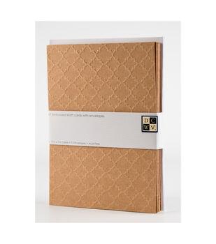 DCWV A7 12 pack card and envelope set: Embossed Kraft cards