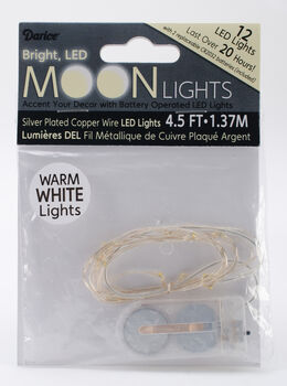 Battery Operated LED Moon Lights-Warm White