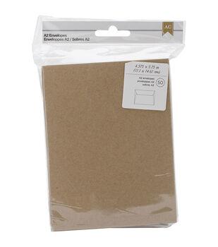 American Crafts A2 Envelopes 4.378''x5.75'' 50 pcs
