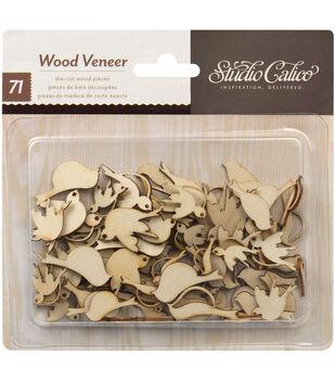 Take Note Laser-Cut Wood Veneer Shapes-Birds