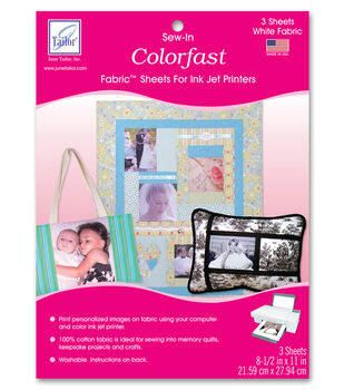 June Tailor Washable Colorfast Printer Fabric 3/Pkg
