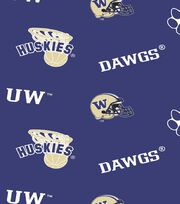 University of Washington NCAA  Fleece Fabric, , hi-res