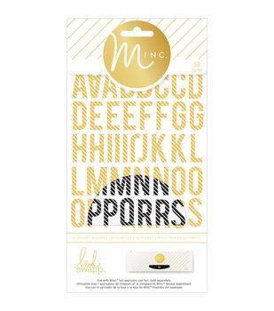 Heidi Swapp Minc Alphabet Stickers 58/Pkg-Striped