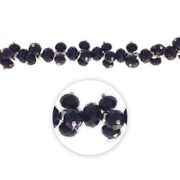"Blue Moon Beads 7"" Crystal Strand, Dangles, Jet Black, , hi-res"
