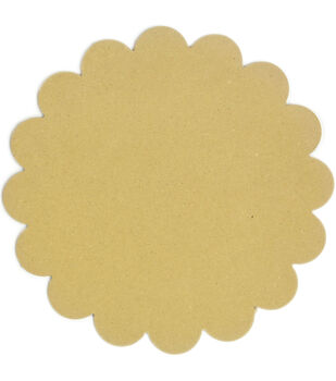 Adorn-It Art Play Round Scallop MDF Shaped Surface 11''