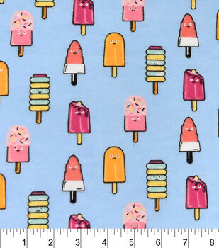 Snuggle Flannel Fabric-Melting Popsicle