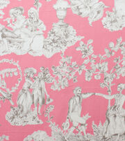 Alexander Henry Cotton Fabric-The Romantics Pink Grey, , hi-res