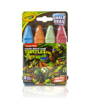 Crayola 4ct Sidewalk Chalk-Teenage Mutant Ninja Turtles, , hi-res