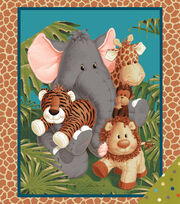 Nursery Fabric- Jungle Babies Panel, , hi-res