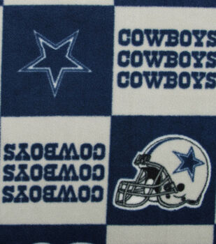 Dallas Cowboys NFL Block Fleece Fabric by Fabric Traditions