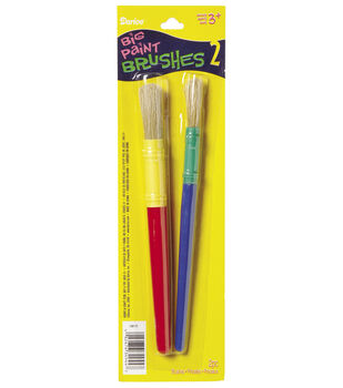 Kids' Paint Brushes-Large Handle, 2pc/pkg