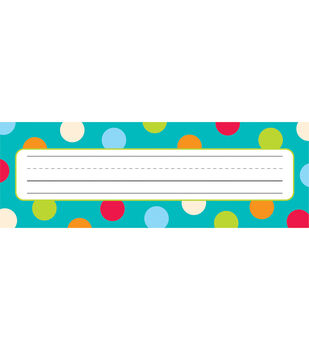 Dots-On-Turquoise Collection: Name Plates