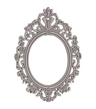 "Tim Holtz Idea-Ology Baroque Frames 2.25""X3"" 2/Pkg-Antique Nickel"
