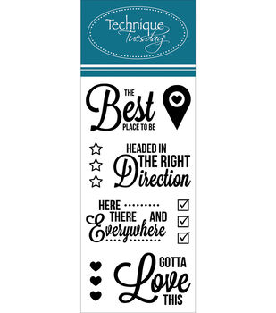 """Technique Tuesday Clear Stamps 2""""X4""""-Best Place"""