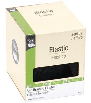 Dritz Braided Elastic White 0.38'' Wide x 60Yds