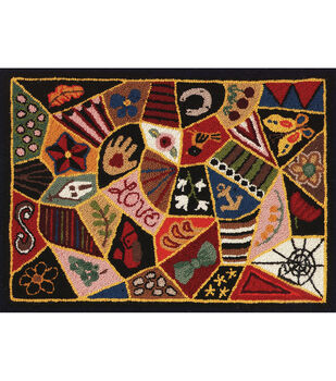 M.C.G. Textiles Heritage Rug Hooking Screen-Victorian Patches