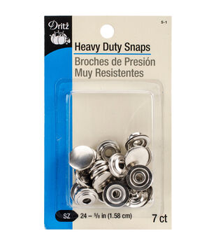 Dritz 0.63'' Heavy Duty Mighty Snap 7pcs