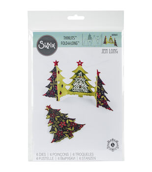 Sizzix® Thinlits Dies-Card, Christmas Tree Fold-A-Long