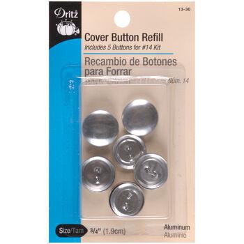 """Dritz 0.75"""" Cover Button Refills 5pcs Size 30"""