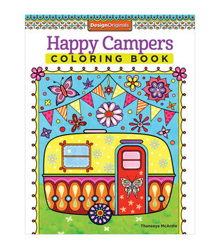 Adult Coloring Book-Design Originals Happy Campers