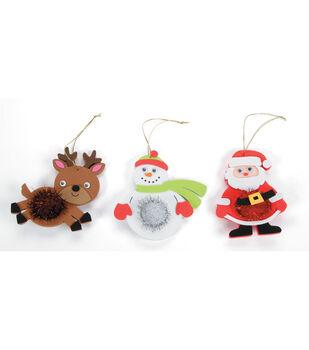 Little Makers™ Holiday Activity Kit-Pom Belly Snowman/Santa/Reindeer
