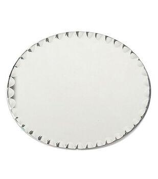 """8""""x10"""" Oval Glass Mirror W/Scallop Edge"""